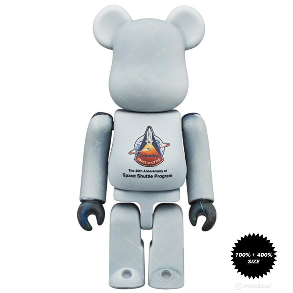 *Pre-order* Space Shuttle 100% + 400% Bearbrick Set by Medicom Toy