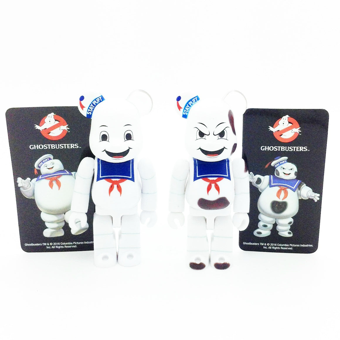 Bearbrick Series 33 - Ghostbusters Stay Puft Marshmallow Man and Burnt Stay Puft (Set of 2)