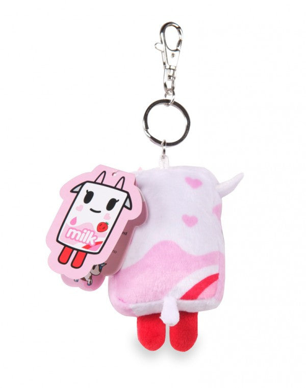 Strawberry Milk Moofia Plush Keychain by Tokidoki - Mindzai  - 1