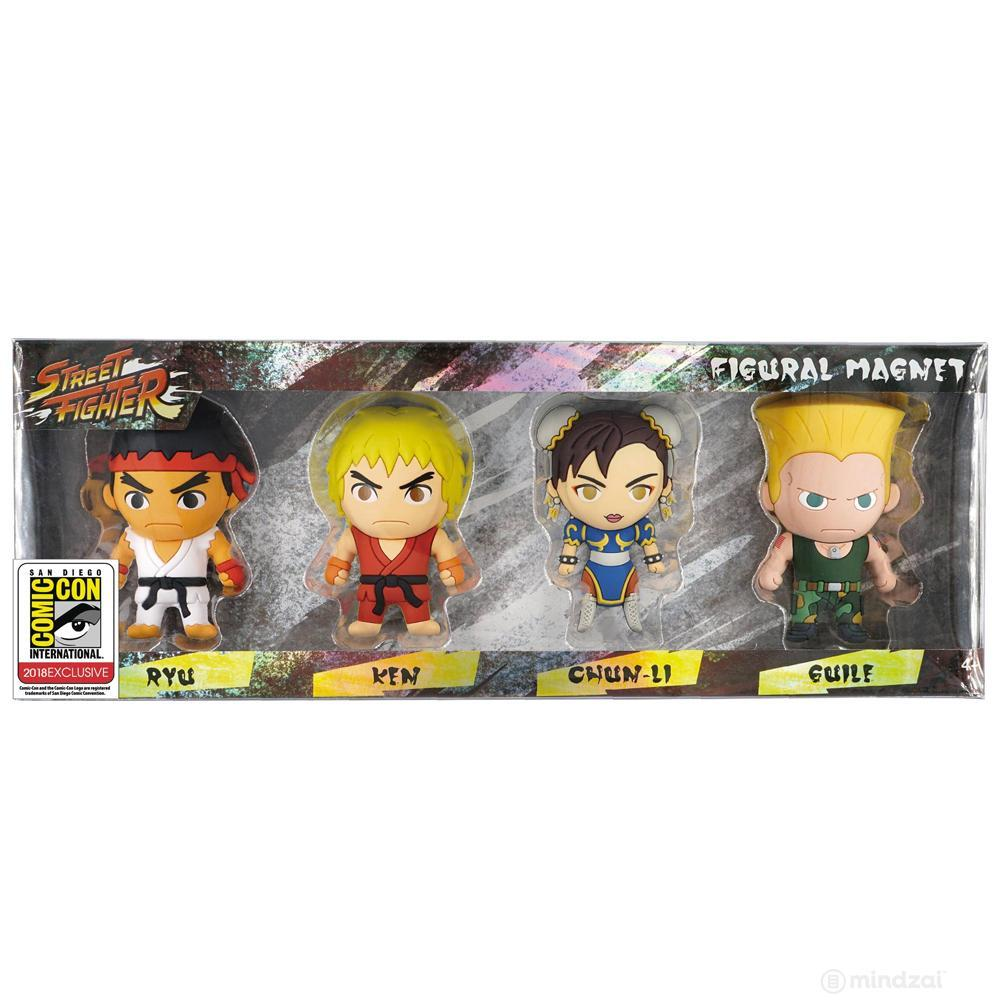 SDCC 2018 Exclusive Street Fighter 3D Foam Figural Magnet 4 Piece Set from Monogram