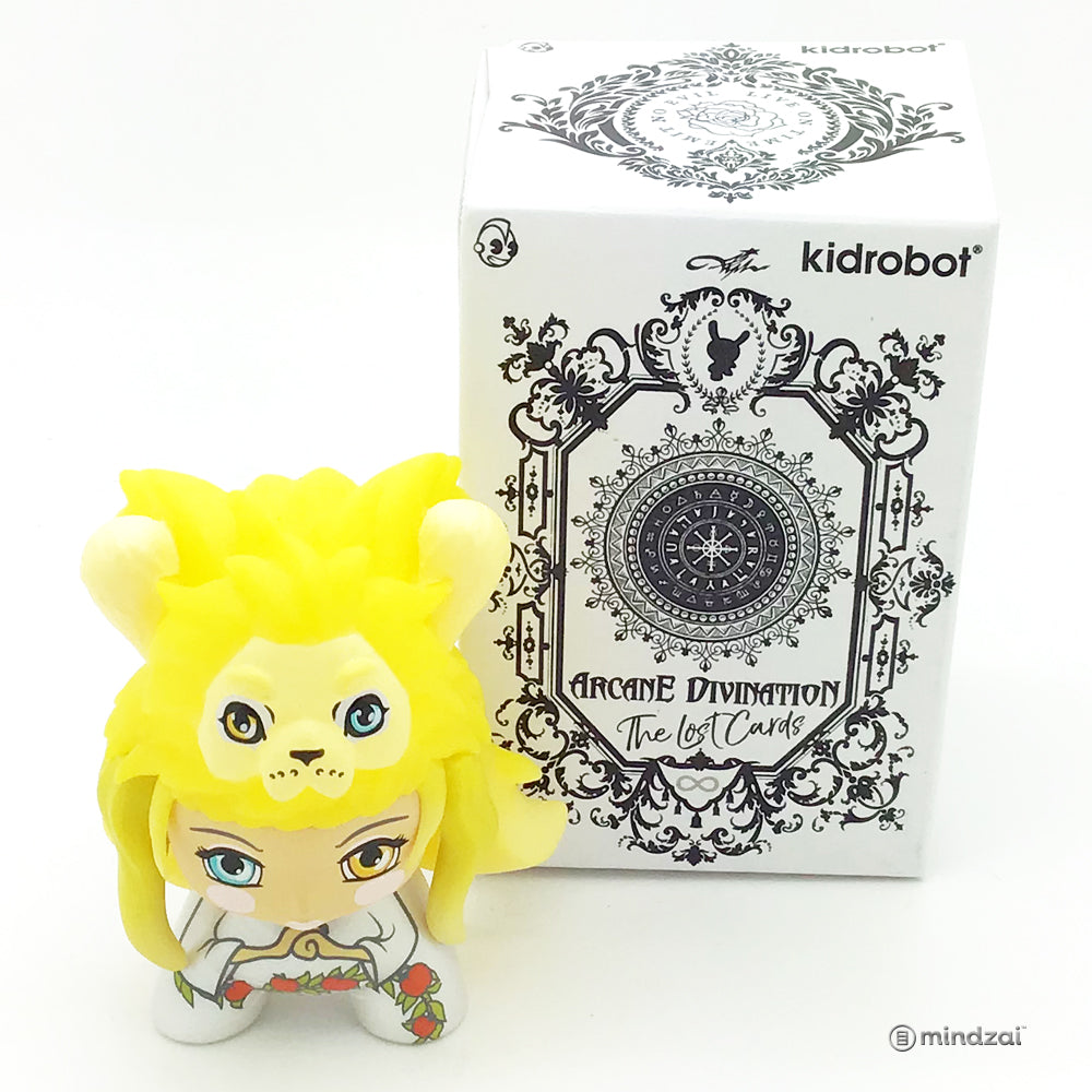 Arcane Divination Series Two The Lost Cards Dunny by Kidrobot - Strength (Camilla D'Errico)