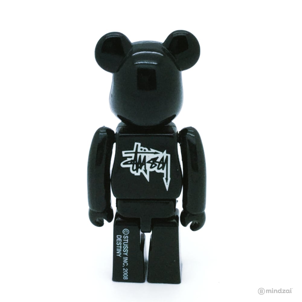 Stussy Destiny - Black 100% Bearbrick by Medicom Toy [Exclusive Japan]
