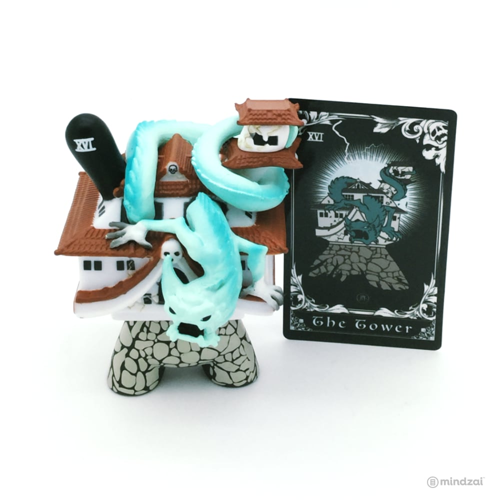 Arcane Divination Series Two The Lost Cards Dunny by Kidrobot - The Tower (JPK)
