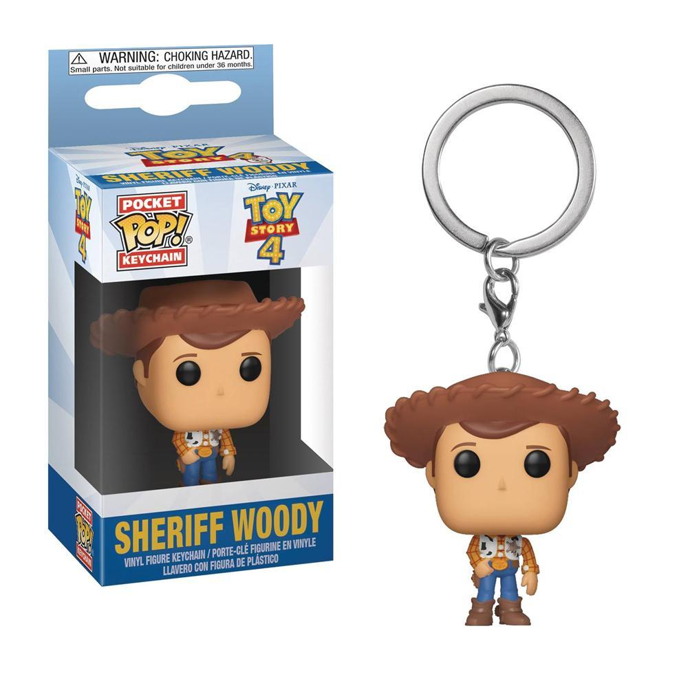 Disney Pixar Toy Story 4 Woody Pocket Pop Keychain by Funko