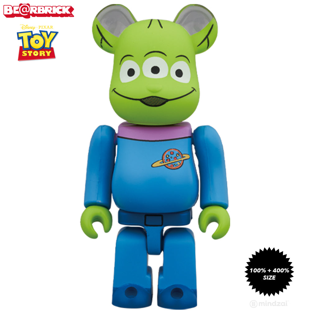 *Pre-order* Toy Story Alien 100% + 400% Bearbrick Set by Medicom Toy