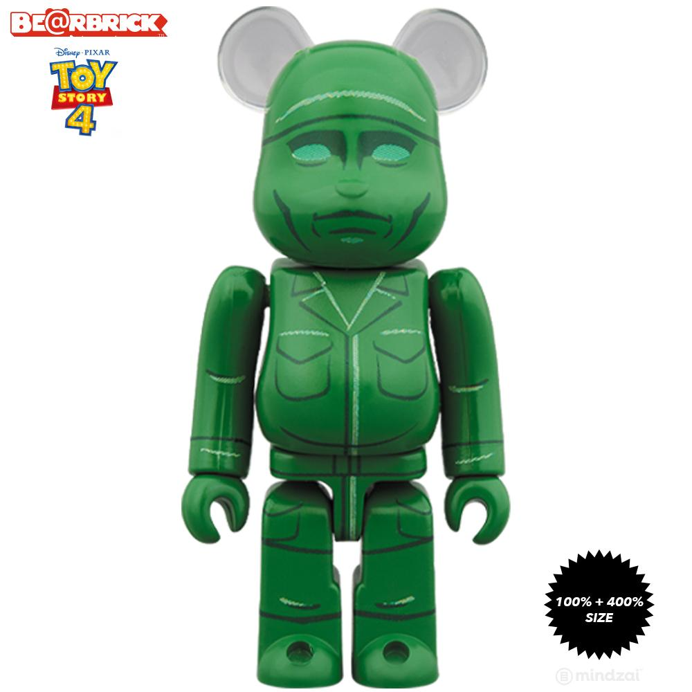 *Pre-order* Green Army Men Toy Story 4 100% + 400% Bearbrick Set by Disney Pixar x Medicom Toy