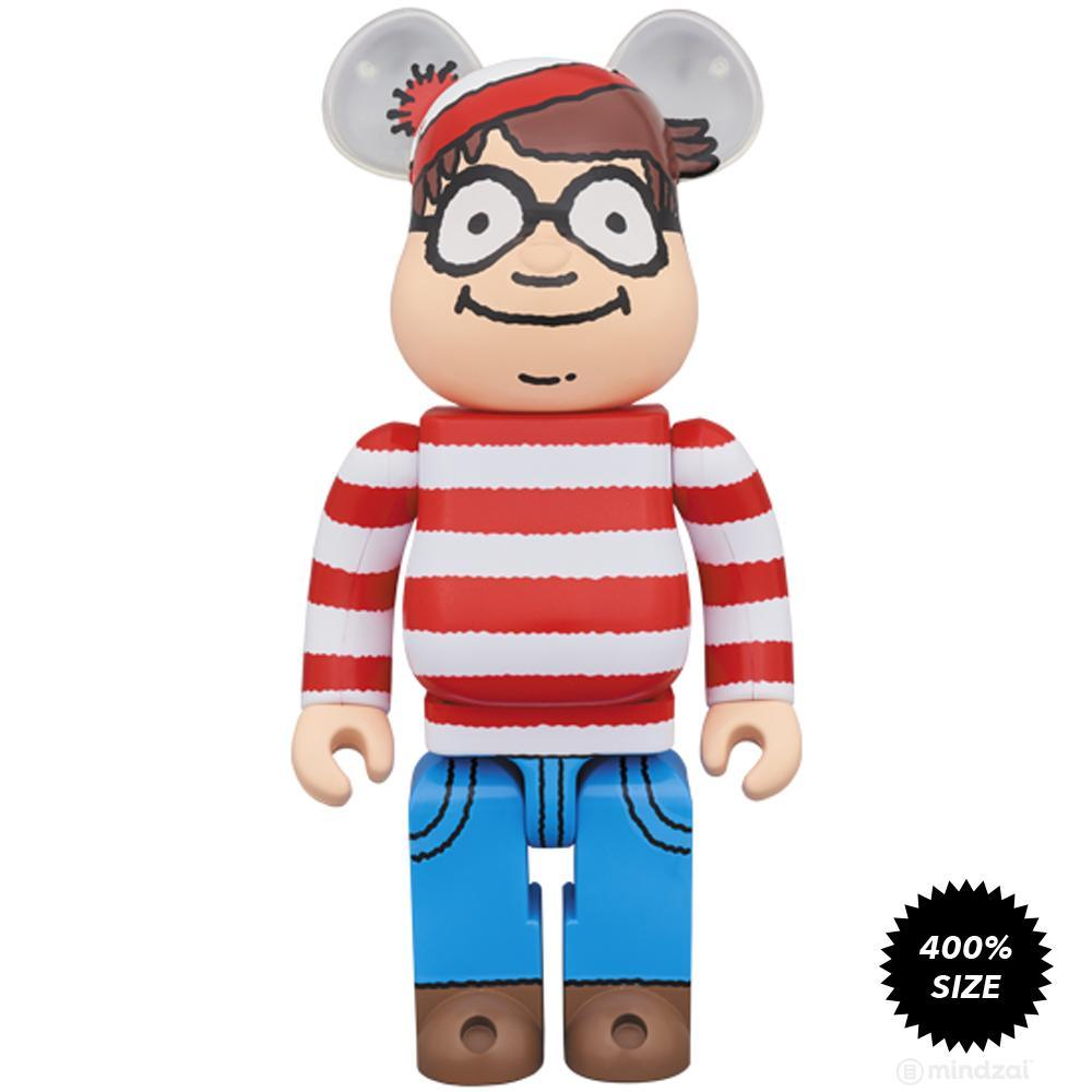 where s waldo wally 400 bearbrick by medicom toy mindzai