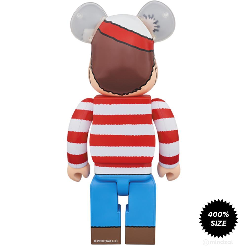 Where's Waldo Wally 400% Bearbrick by Medicom Toy