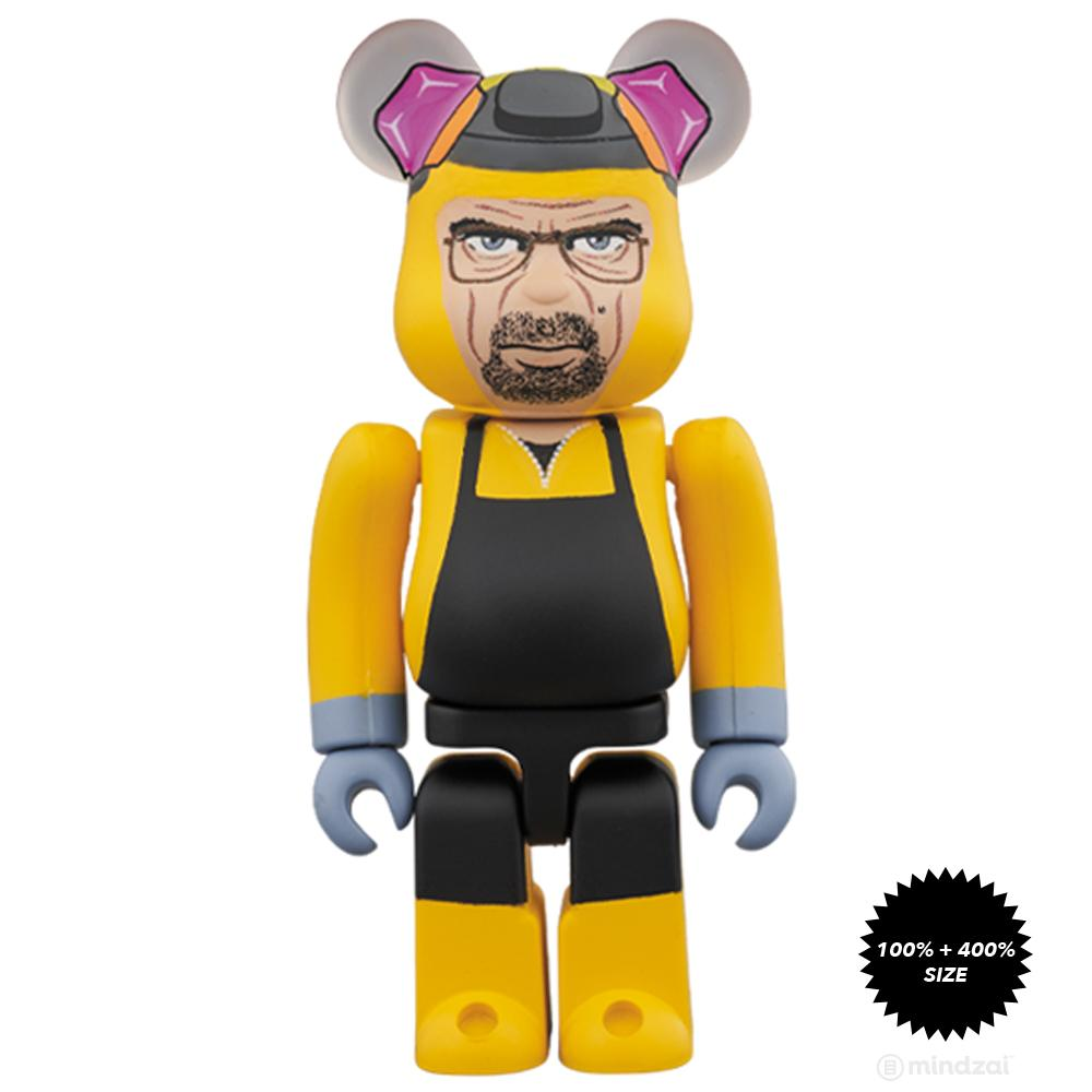 Breaking Bad Walter White (Chemical Protective Clothing Ver.) 100% + 400% Bearbrick Set by Medicom Toy