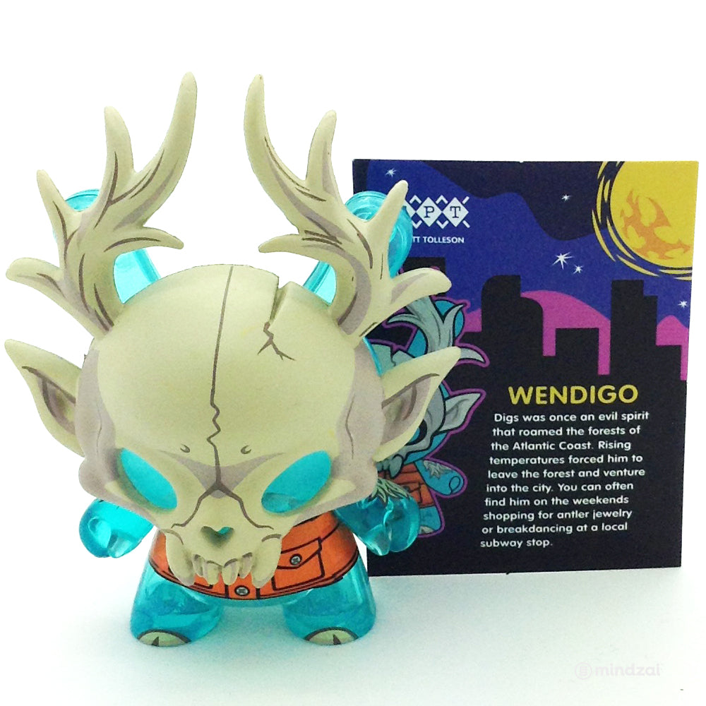 City Cryptid Blind Box Dunny Series - Wendigo by Scott Tolleson