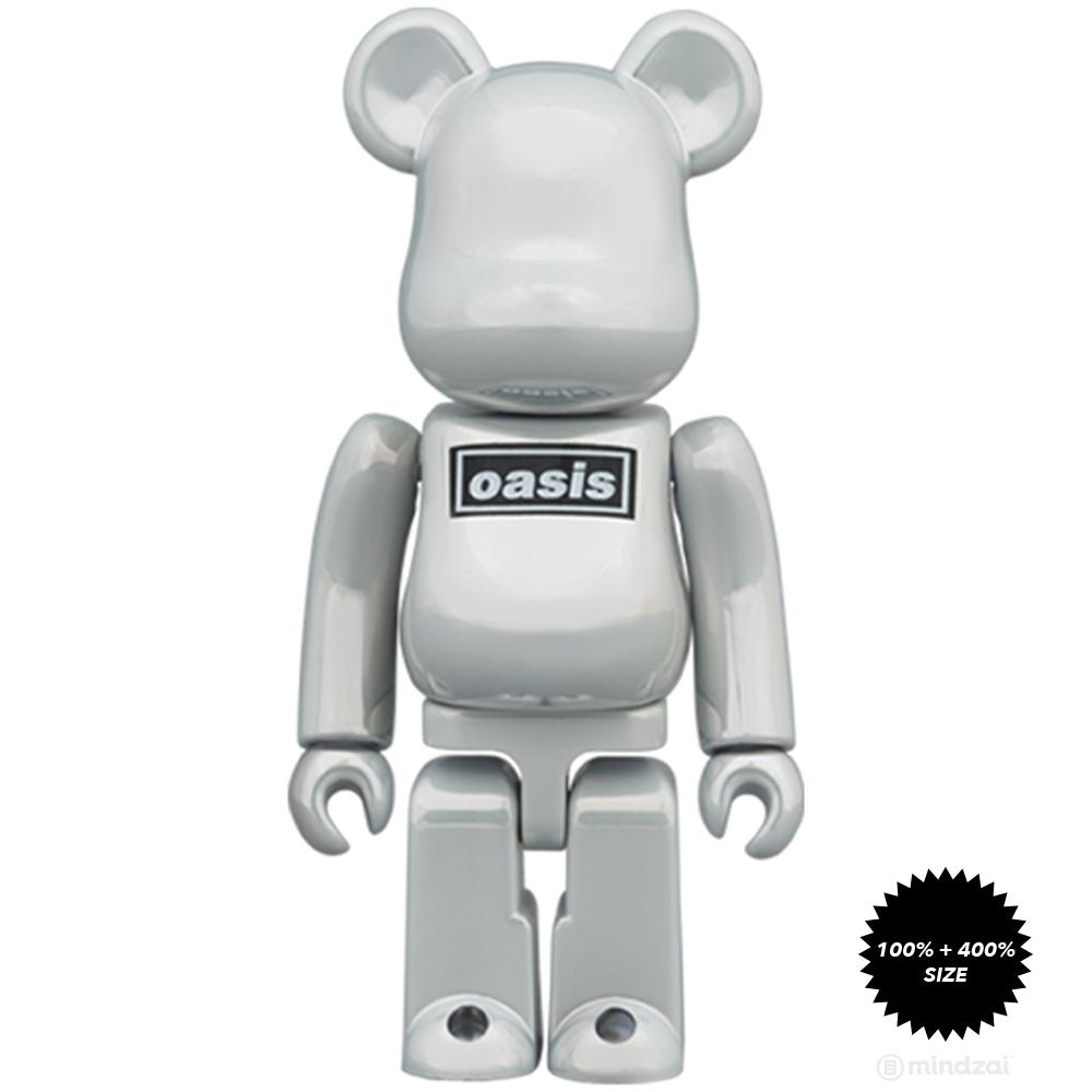 *Pre-order* Oasis - White Chrome Ver. 100% + 400% Bearbrick by Medicom Toy