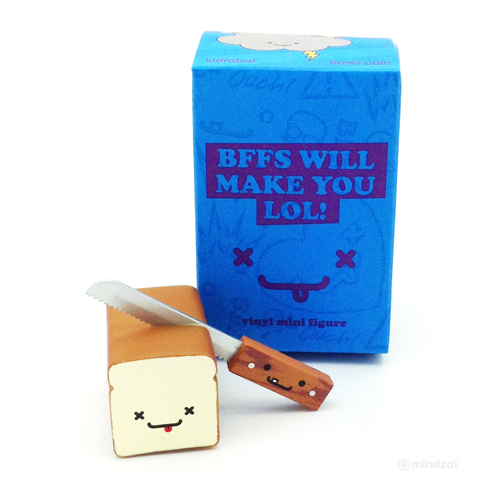 BFFs Best Friend Forever Series 4 Blind Box by Kidrobot Wonder and Joe  (Bread and Knife)