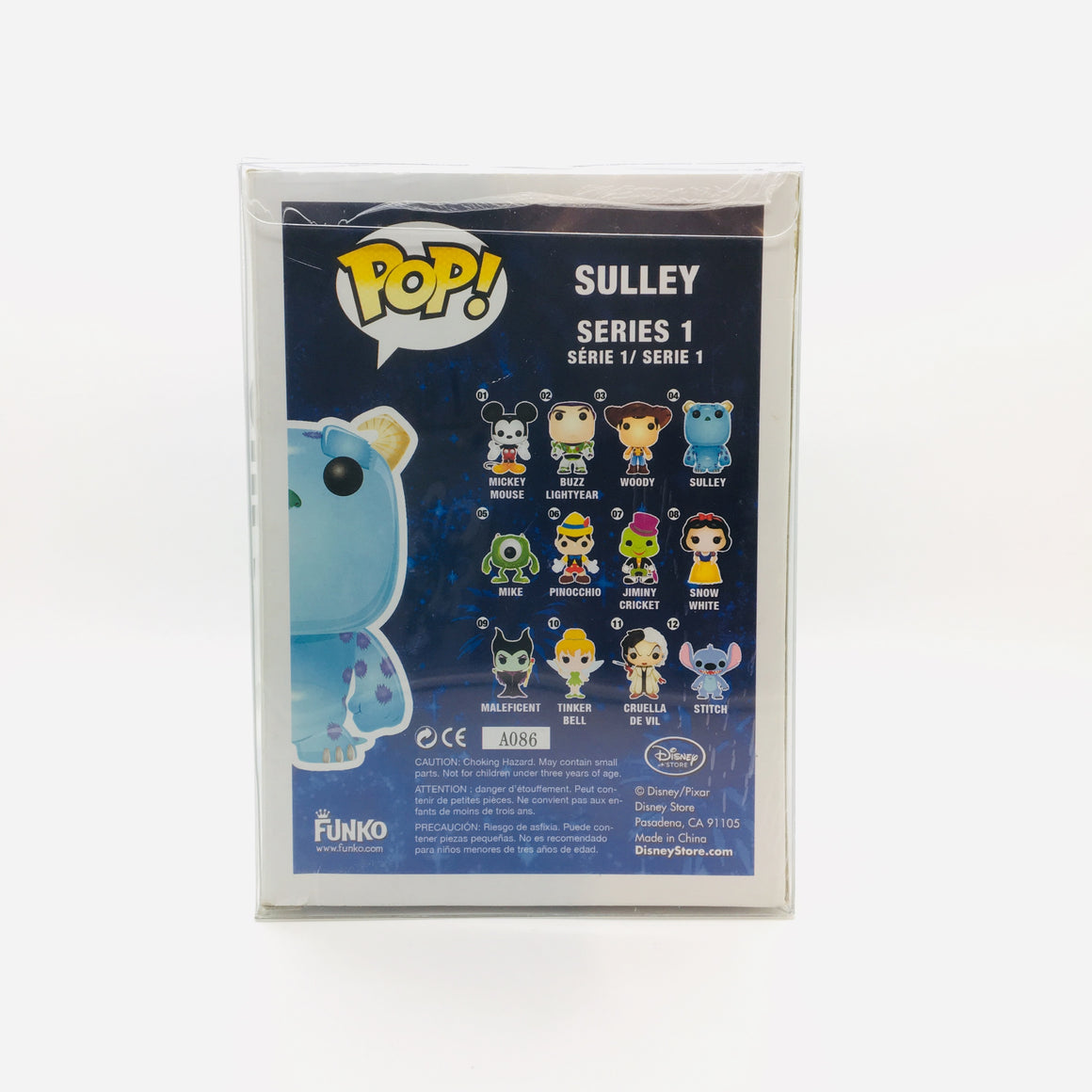 Disney Sulley Pop Toy Figure #04 Vaulted by Funko