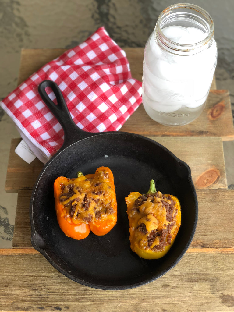 Quick and Easy BBQ Stuffed Peppers