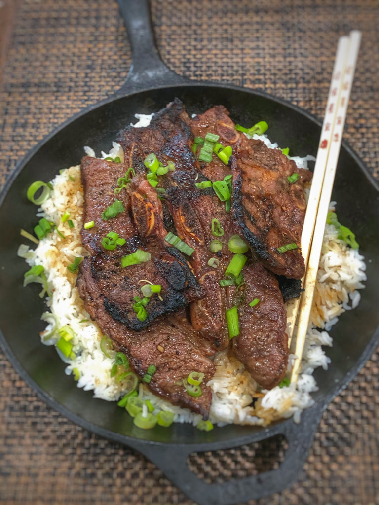 Ginger garlic beef short ribs