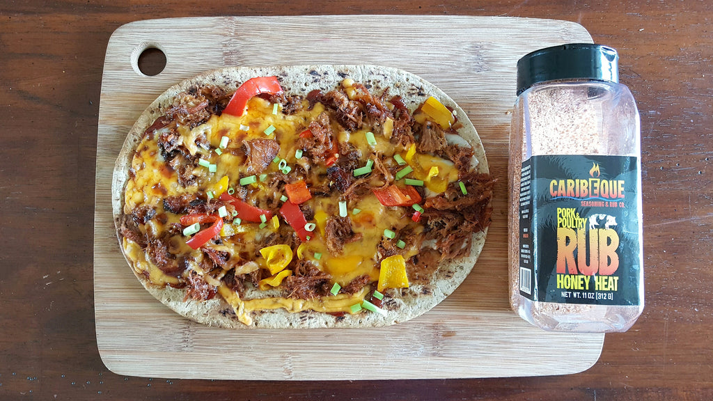 Flatout® Bbq Pulled Pork Flatbread Pizza with Caribeque Honey Heat