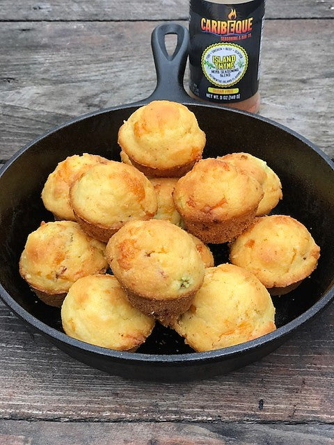 Bacon, jalapeno and cheddar cornbread muffins!