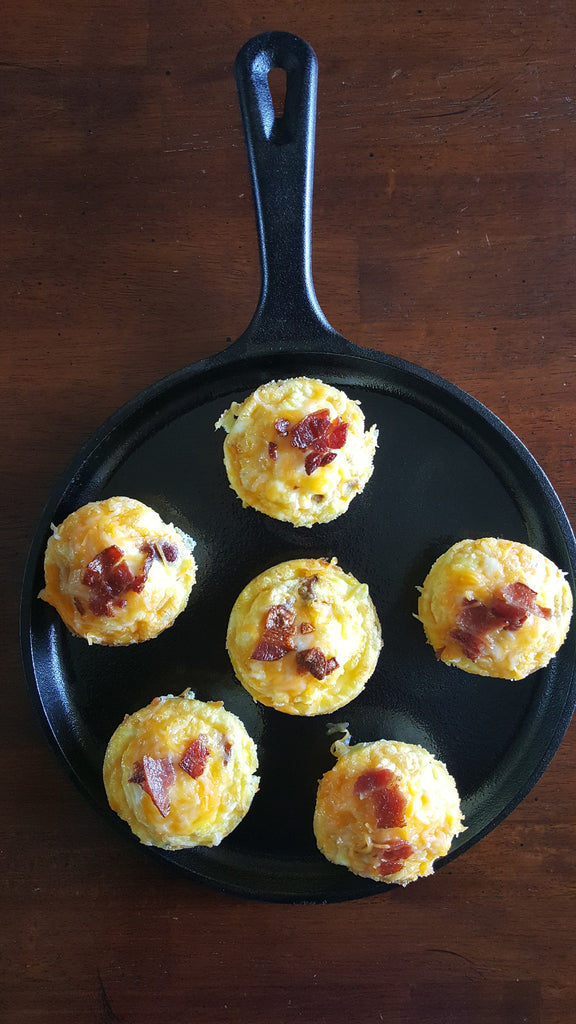 Sausage, bacon , egg and cheese breakfast muffins
