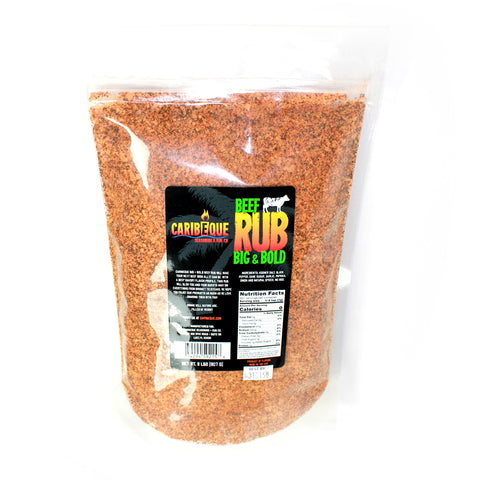 BIG & BOLD BEEF RUB - 2 LB BAG - Best BBQ Seasoning & Rub Co.