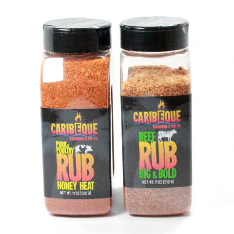 Rub Variety Pack ( Honey Heat and Bold Beef ) 2 bottles - Best BBQ Seasoning & Rub Co.