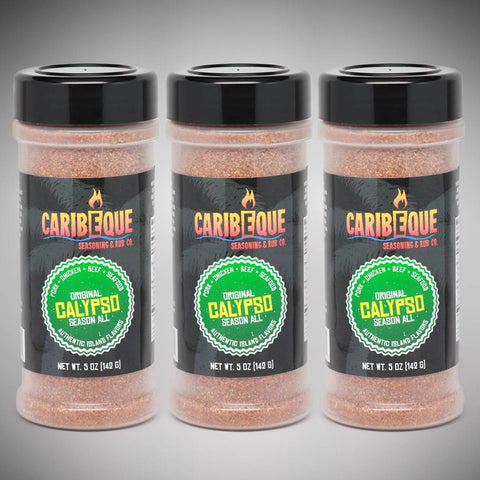 3-Pack Calypso Original Season All (5 oz Shaker Bottles) - Best BBQ Seasoning & Rub Co.