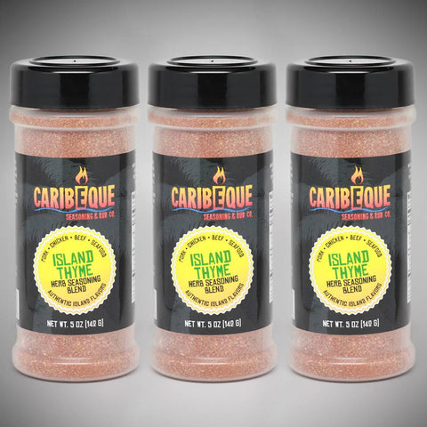 3-Pack Island Thyme Herb Seasoning Blend (5 oz Shaker Bottles) - Best BBQ Seasoning & Rub Co.