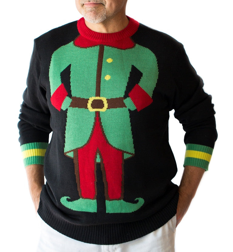 Men's Mini-Elf Christmas Sweater