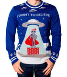 Men's I Want To Believe UFO Christmas Sweater