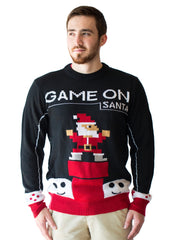 Men's Retro Game On Santa Ugly Christmas Sweater