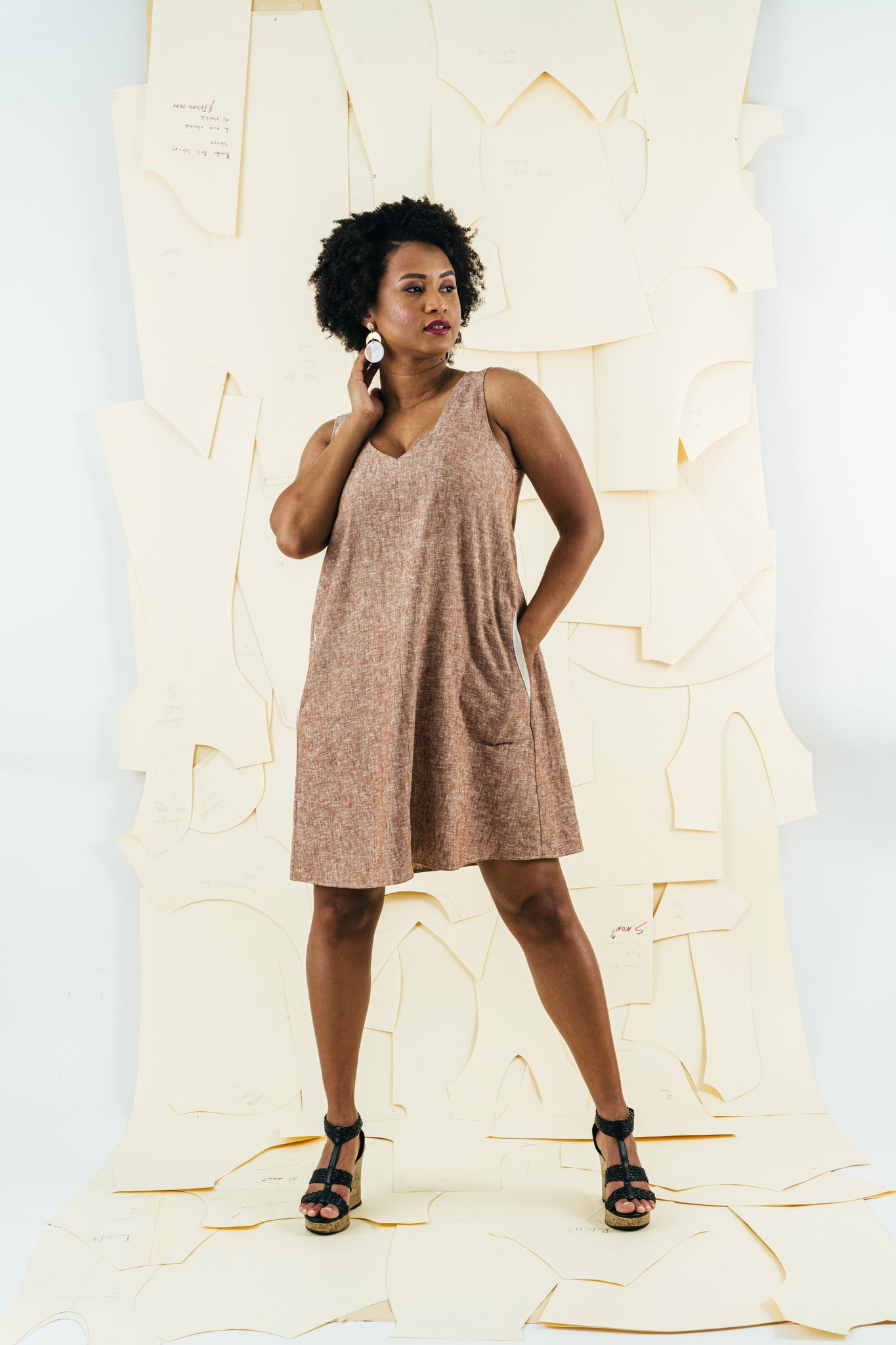 Latitude Linen Dress | Chestnut