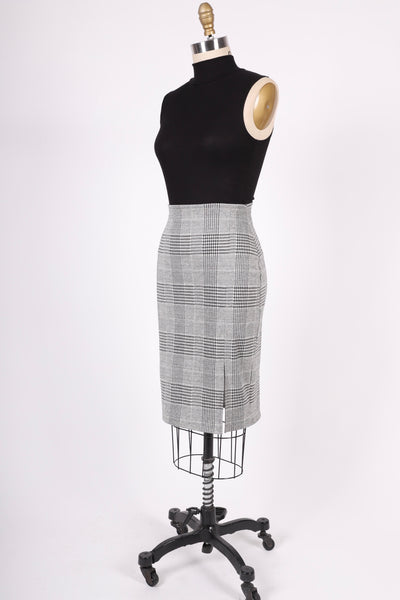Lulu Side Slit Skirt | Glen Plaid