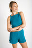 Maisie Square Neck Top |Teal