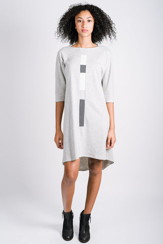 Highs and Lows Dress | Heather Grey