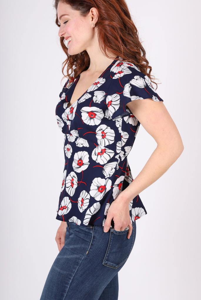 Empire Flutter Top | Seaside Floral