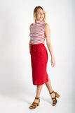 Sally Draw-String Skirt | Red