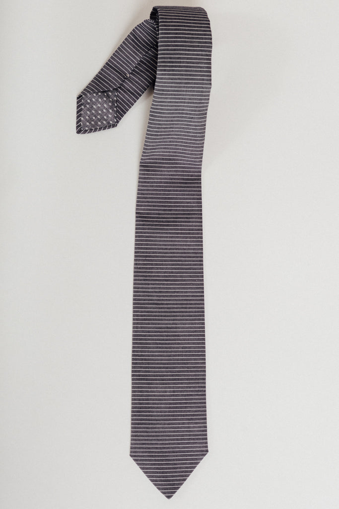 Grey Railroad Riley Tie