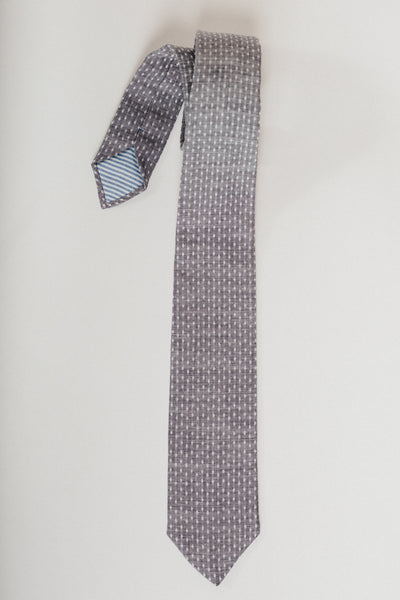 Washed Chambray Dot Riley Tie