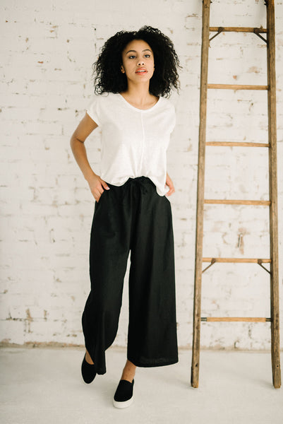 Linen Wavelength Pant | Black