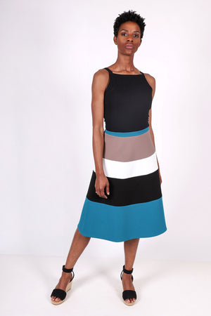 City Circle Skirt | Teal