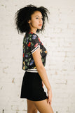 Betty Blouson | Dots and Flowers Black