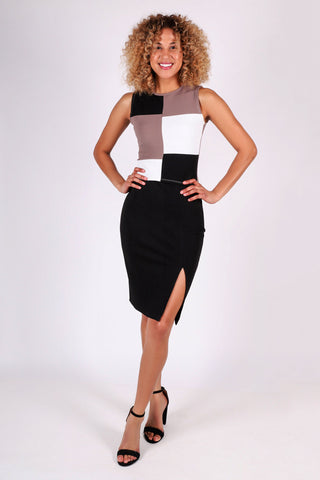 Morgan Color-Blocked Top | Black