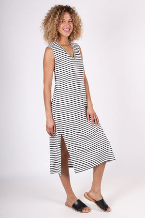 Sullivan Column Dress | Ivory Stripe