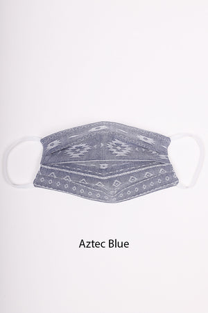 Pleated Face Mask | Buy 1 Donate 1 | Blue Hues