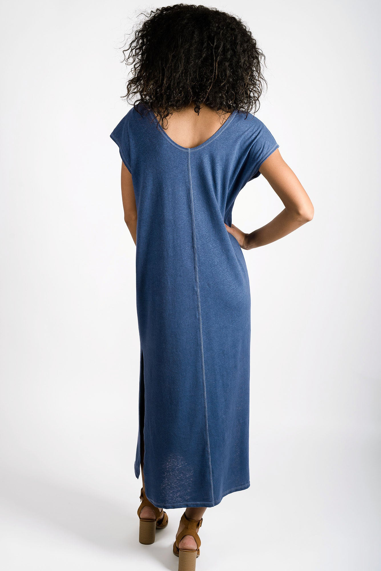 Della Reversible Dress | Indigo Blue