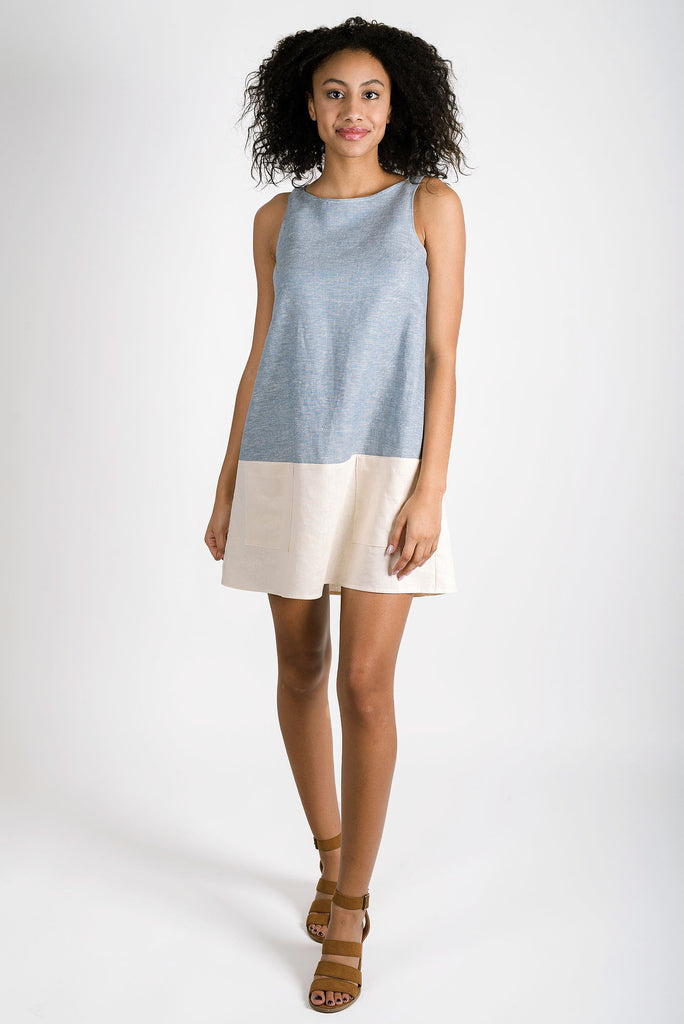 Shirley Linen Dress | Chambray