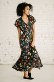 Drifter Maxi | Dots and Flowers Black