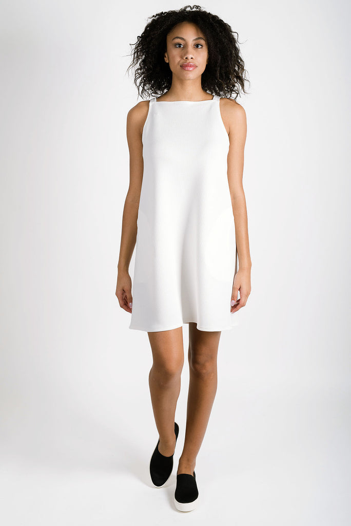 Sadie Square Neck Dress | Ivory