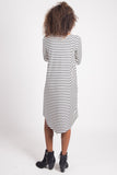 In All Directions Dress | Marine Stripe Ivory
