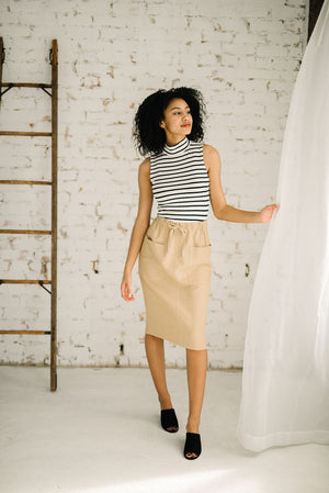 Sally Drawstring Skirt | Sand
