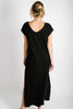 Della Reversible Dress | Black